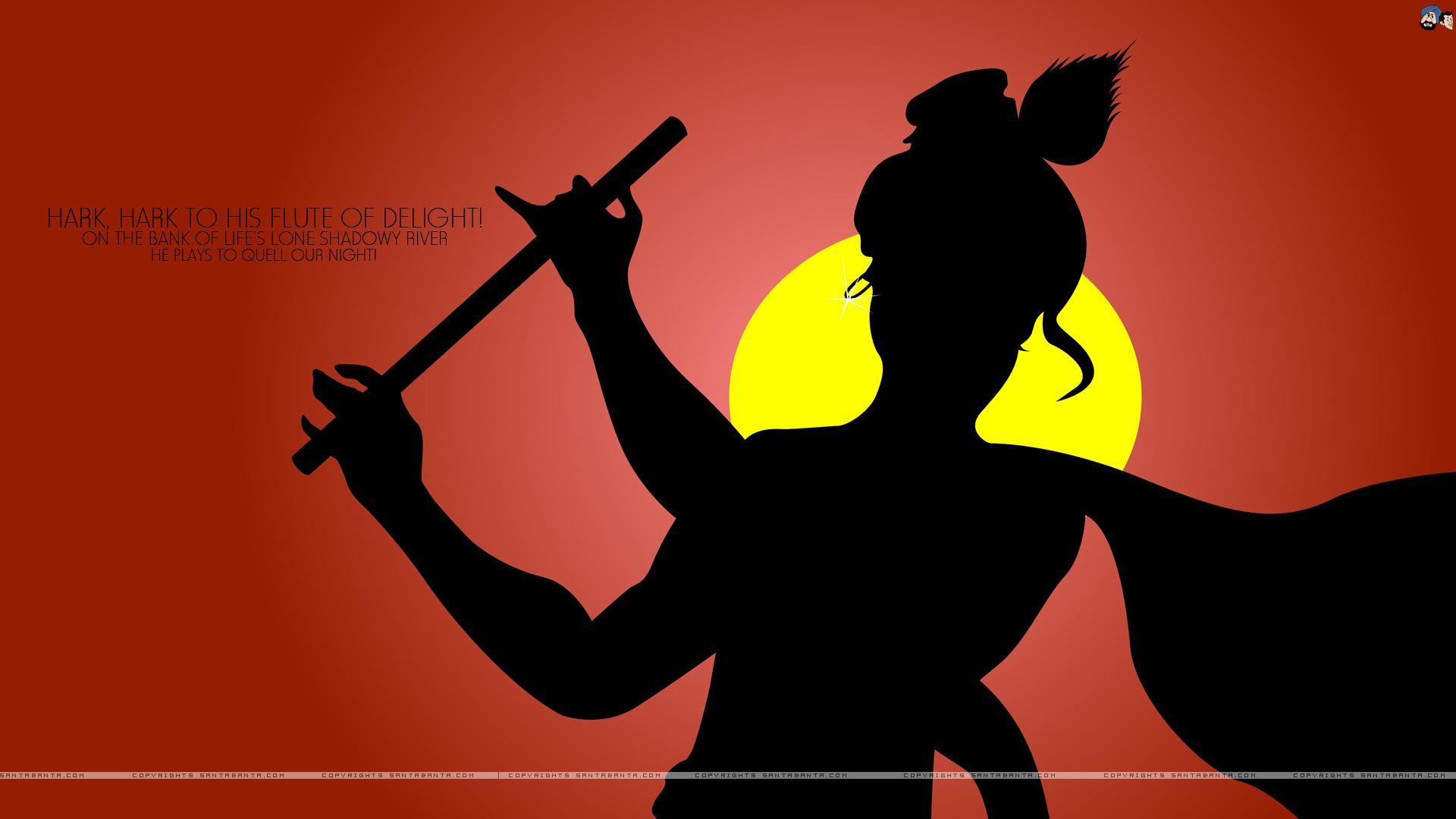 Lord Krishna Rangoli - HD Wallpaper