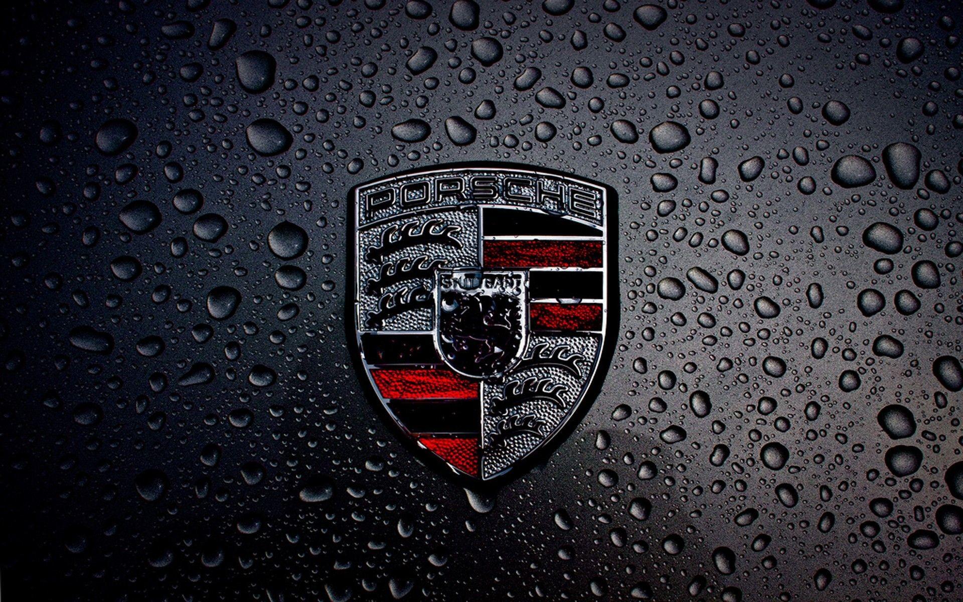1920x1200, Dark Porsche Logo Hd Wallpaper For Desktop - Porsche Logo Wallpaper Hd - HD Wallpaper