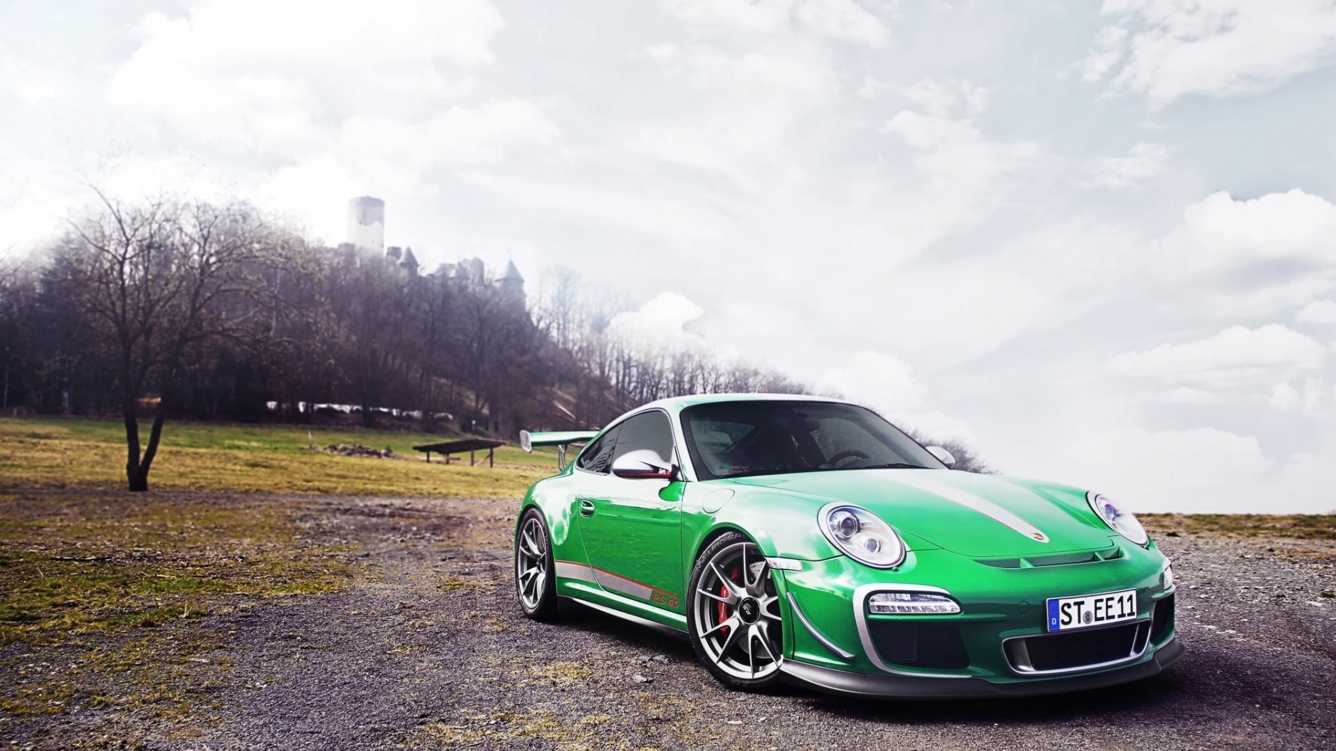 Porsche Gt3 Rs Wallpaper Wallpaper 7 - Porsche Gt3 Wallpaper Green - HD Wallpaper