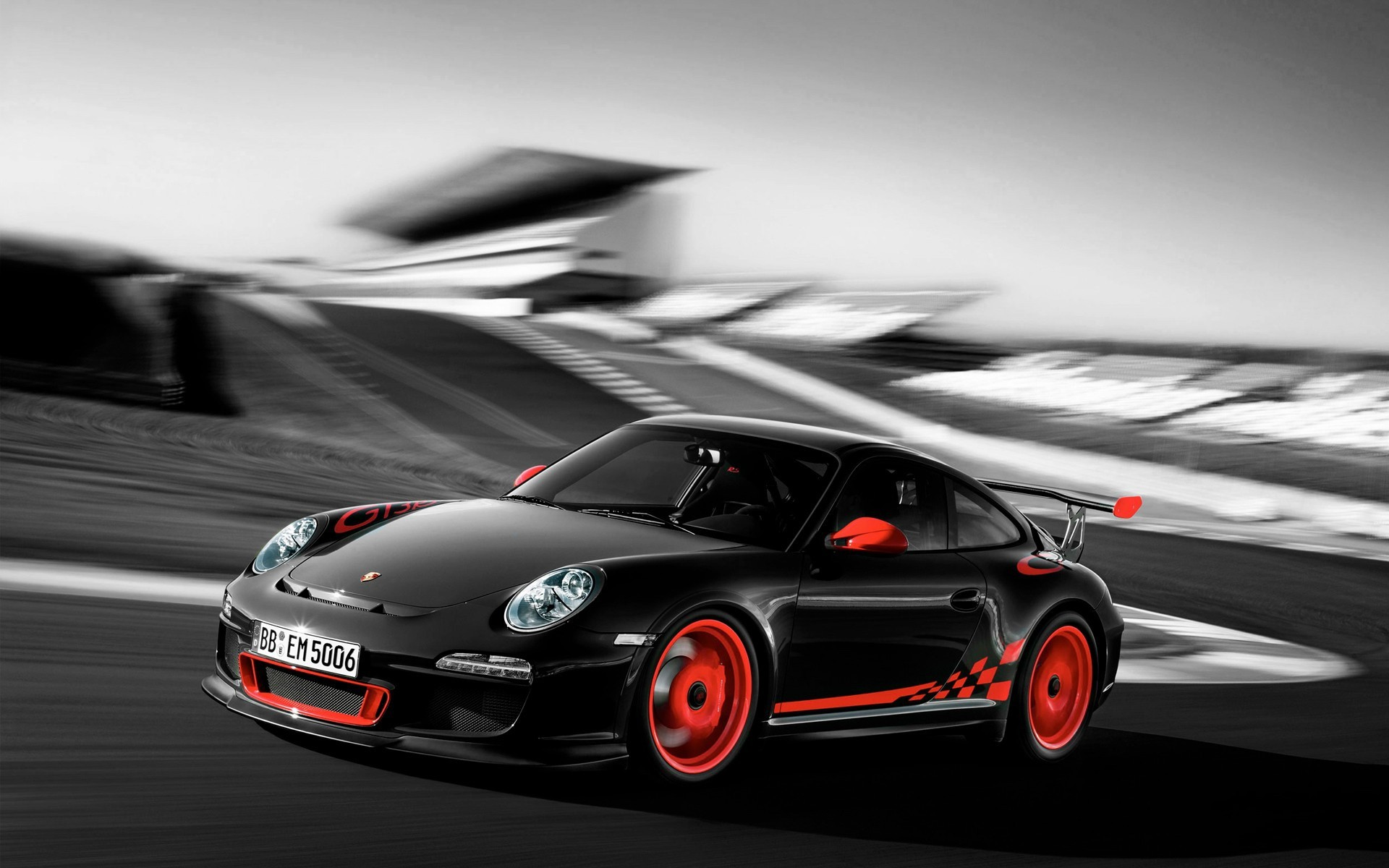 Porsche 911 Gt3 Wallpaper - Black Porsche 991 Gt3rs - HD Wallpaper