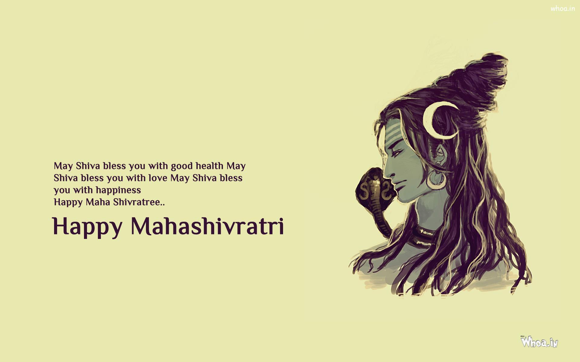 Lord Shiva Mahashivratri Quotes - HD Wallpaper