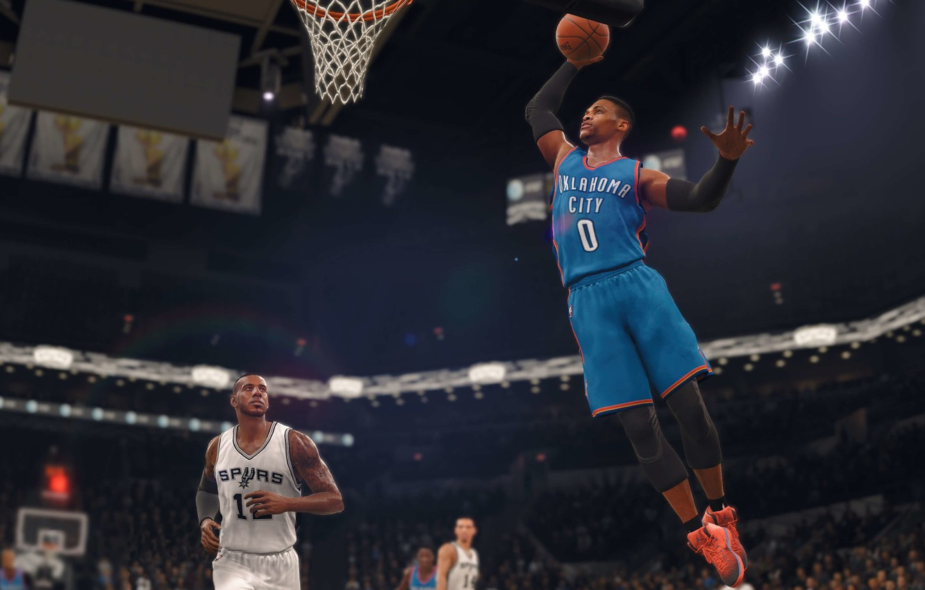 Photo Wallpaper Sport, Game, Nba, Electronic Arts, - Game Which Have One To One Matches Each Other - HD Wallpaper