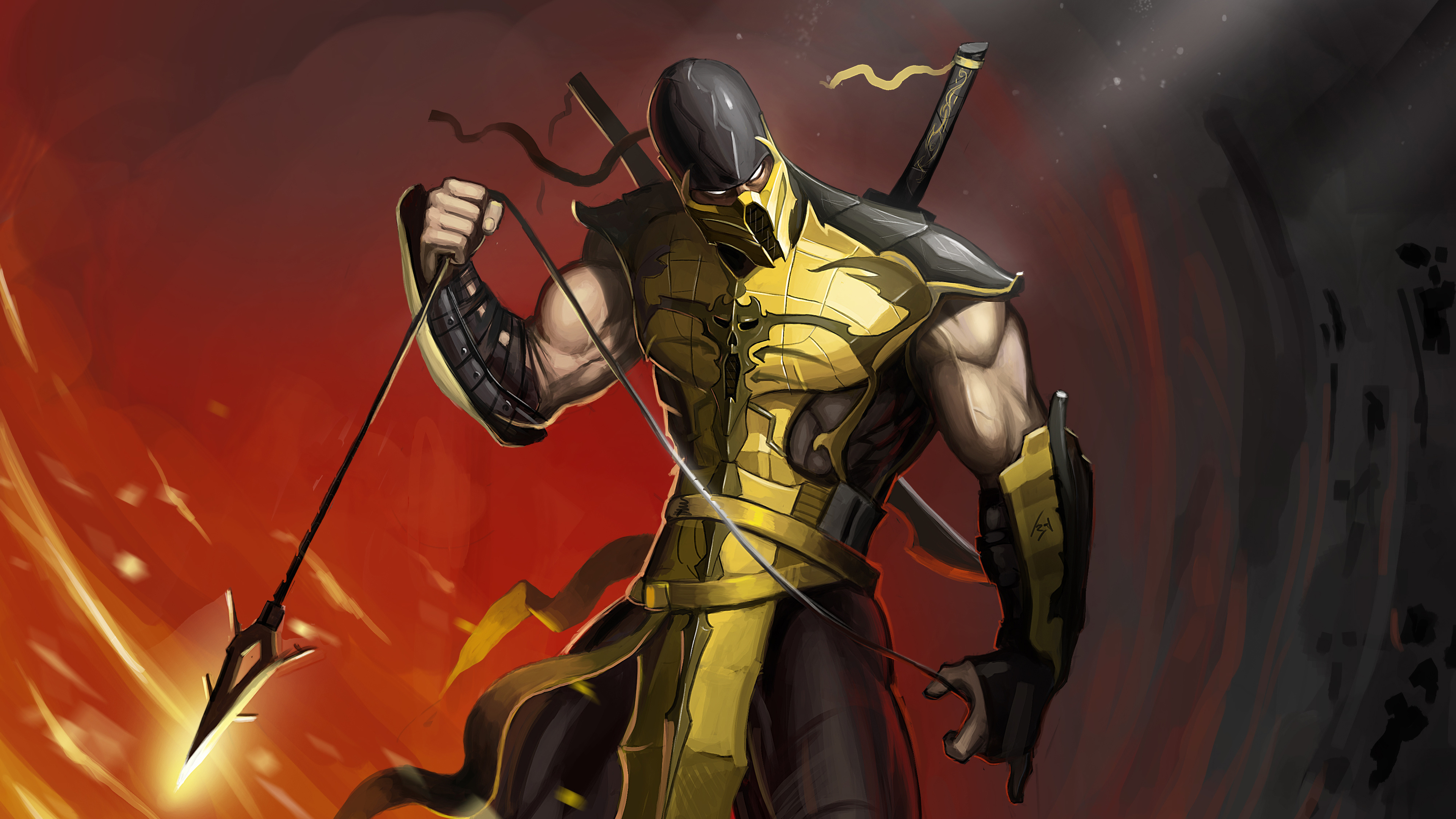 mortal kombat scorpion wallpaper hd