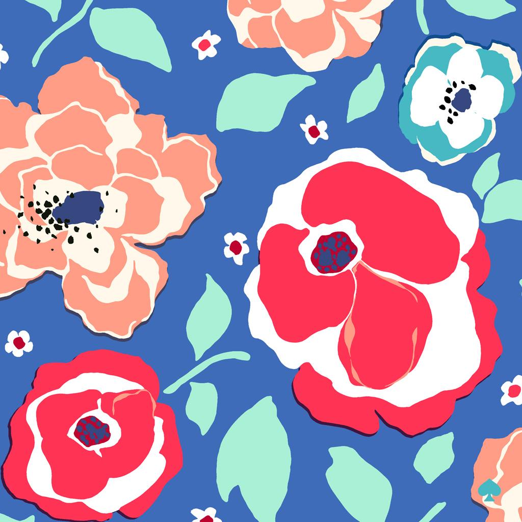 Kate Spade Wallpaper - Kate Spade Blue Floral Dress ...