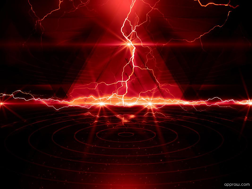 Red Lightning Wallpaper Hd 1067x800 Wallpaper Teahub Io
