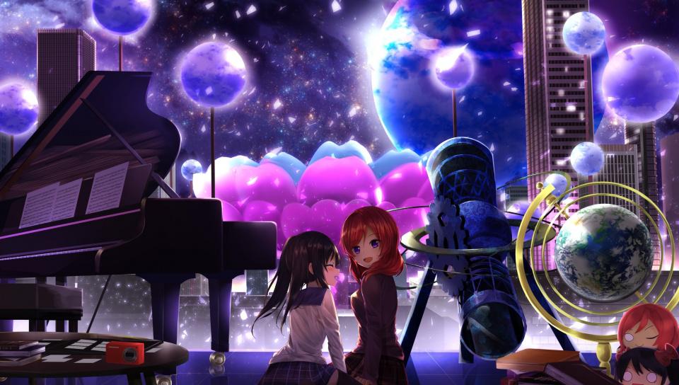 Maki Nishikino, Nico Yazawa, Love Live , Anime Girls, - Love Live Yazawa Nico - HD Wallpaper