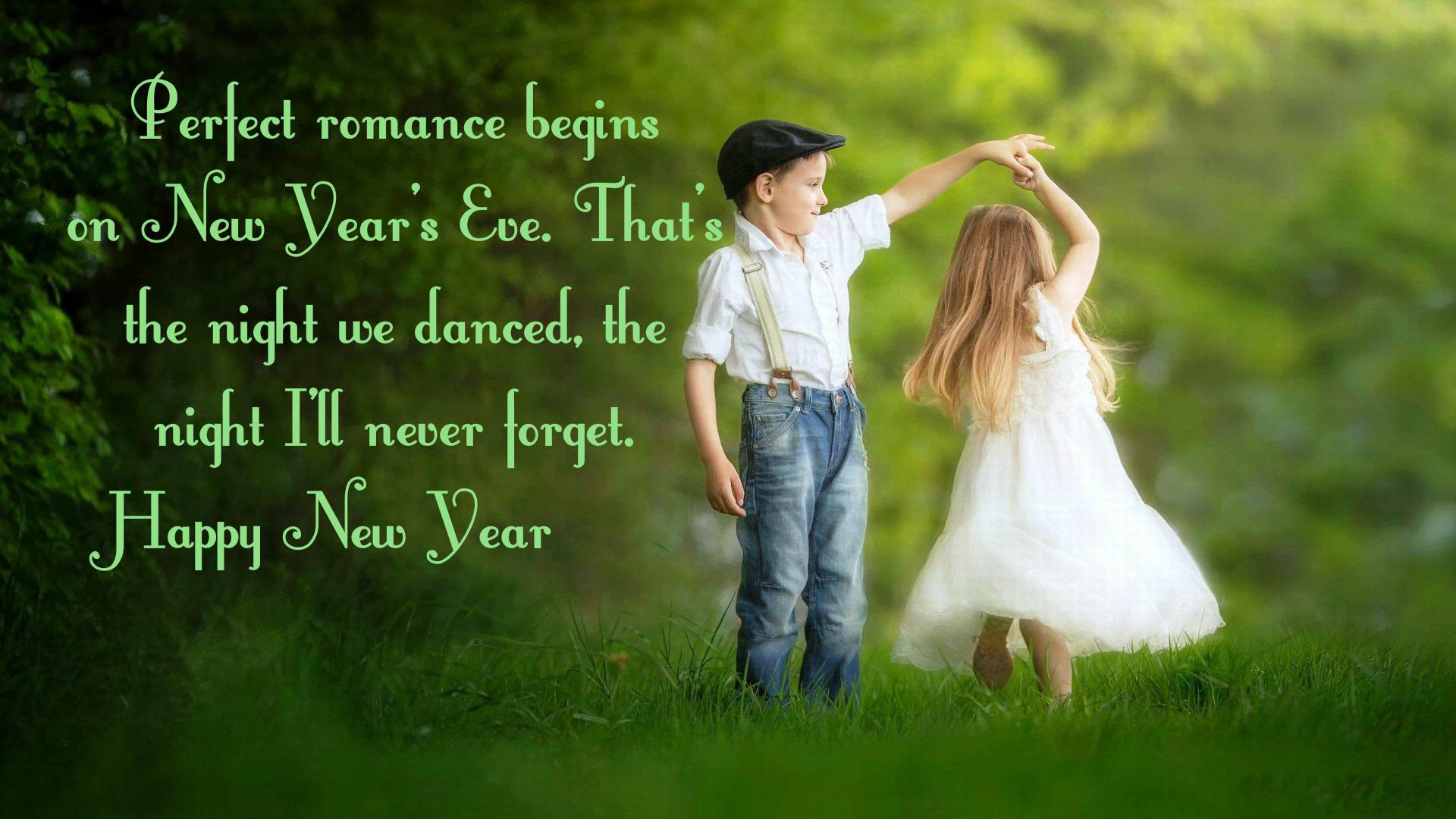 Happy New Year Wishes For Love Romantic Wallpaper - Hd Cute Baby Love Couple - HD Wallpaper