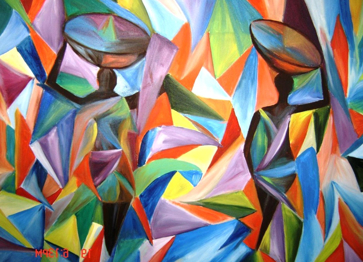 Colorful Abstract Hd Painting - HD Wallpaper