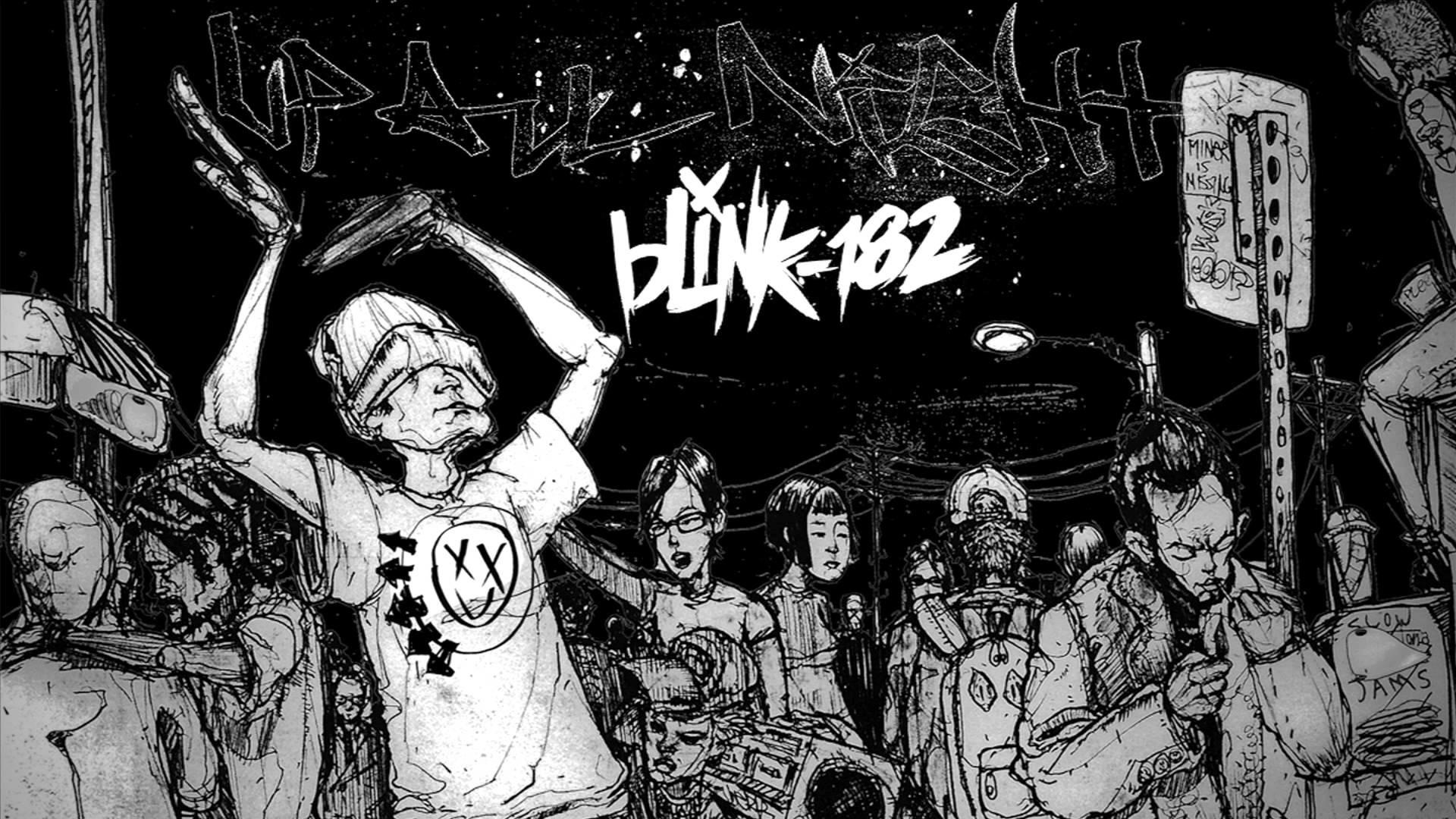 Blink 182 Logo Wallpaper - Blink 182 Up All Night - HD Wallpaper