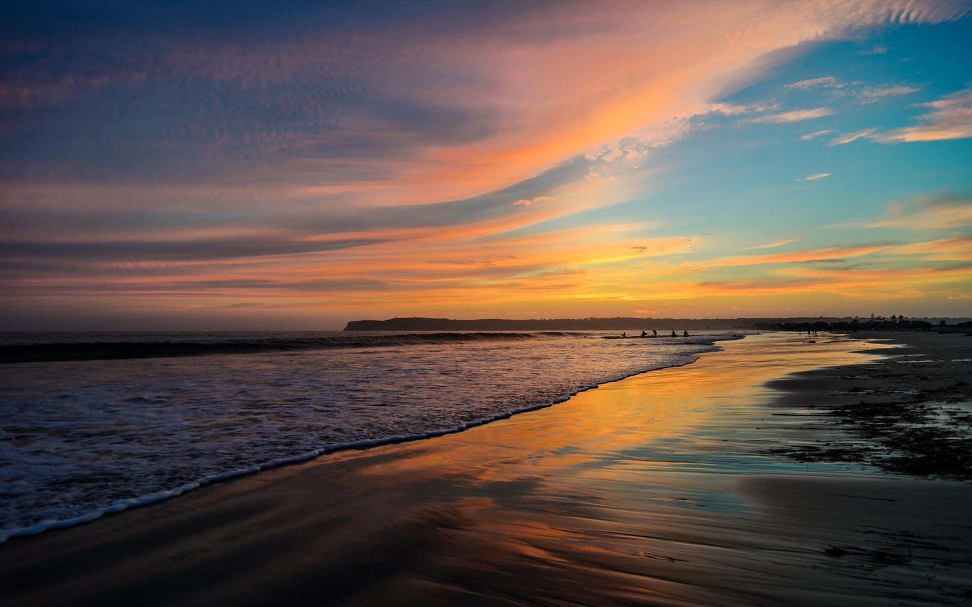Wallpaper San Diego California Usa Beach Ocean Hd Pics San Diego Beach 1920x1200 Wallpaper Teahub Io