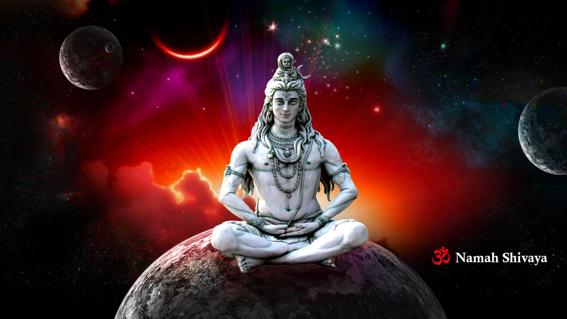 Lord Shiva In Rudra Avatar Animated Wallpapers   Data - Lord Shiva In Meditation - HD Wallpaper