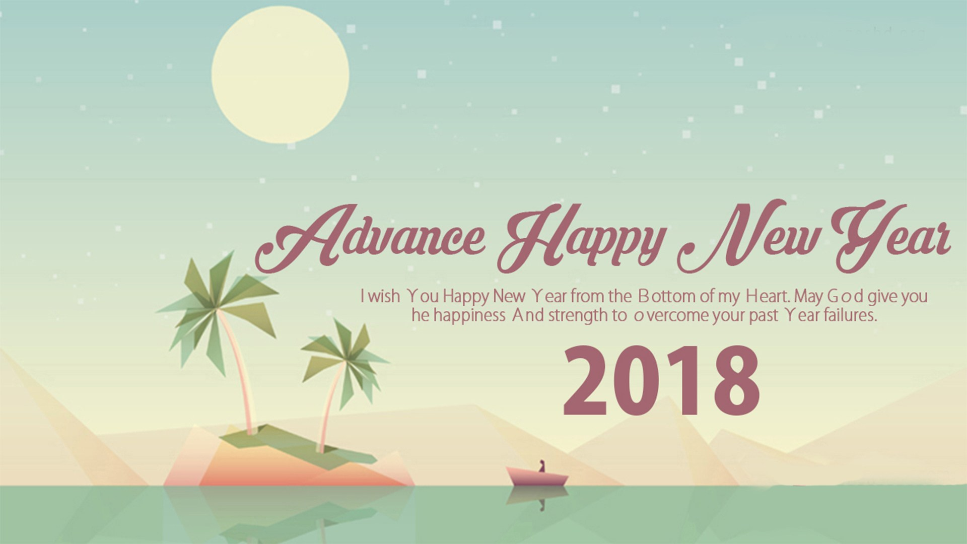 Advance Happy New Year Image - Wish You Happy New Year 2018 - HD Wallpaper