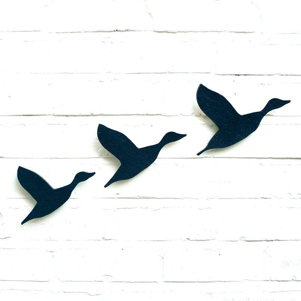 Flying Geese Wall Art Unique Ceramic Wall Art Flying - Ducks Flying Wall - HD Wallpaper