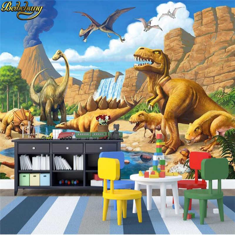Beibehang Custom Photo Papel De Parede 3d Minions Forest - Papel De Parede Dinossauro Desenho - HD Wallpaper