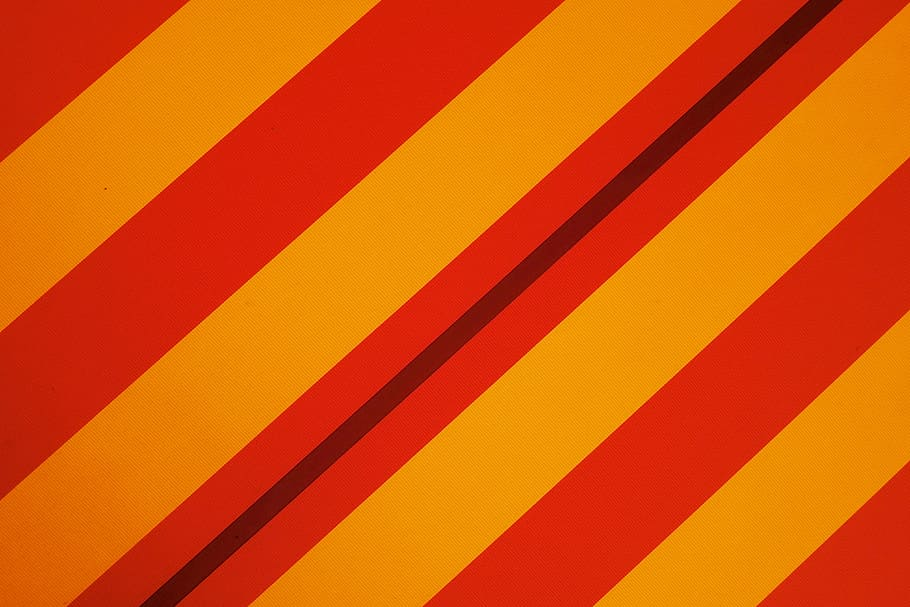 Red, Yellow, Stripe Wallpaper, Orange, Wall, Stripe, - Color - HD Wallpaper