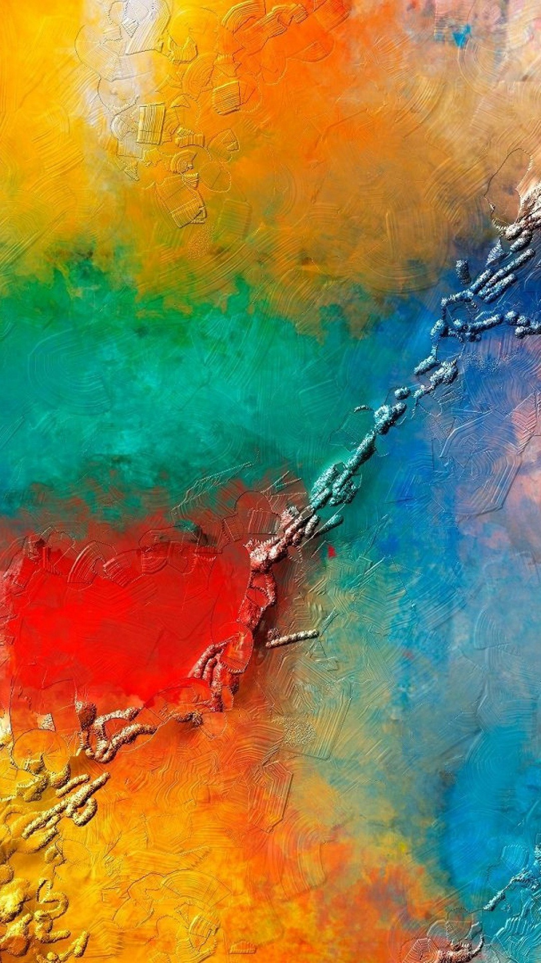 Colorful Phone Images - Best Painting Wallpaper For Mobile - HD Wallpaper