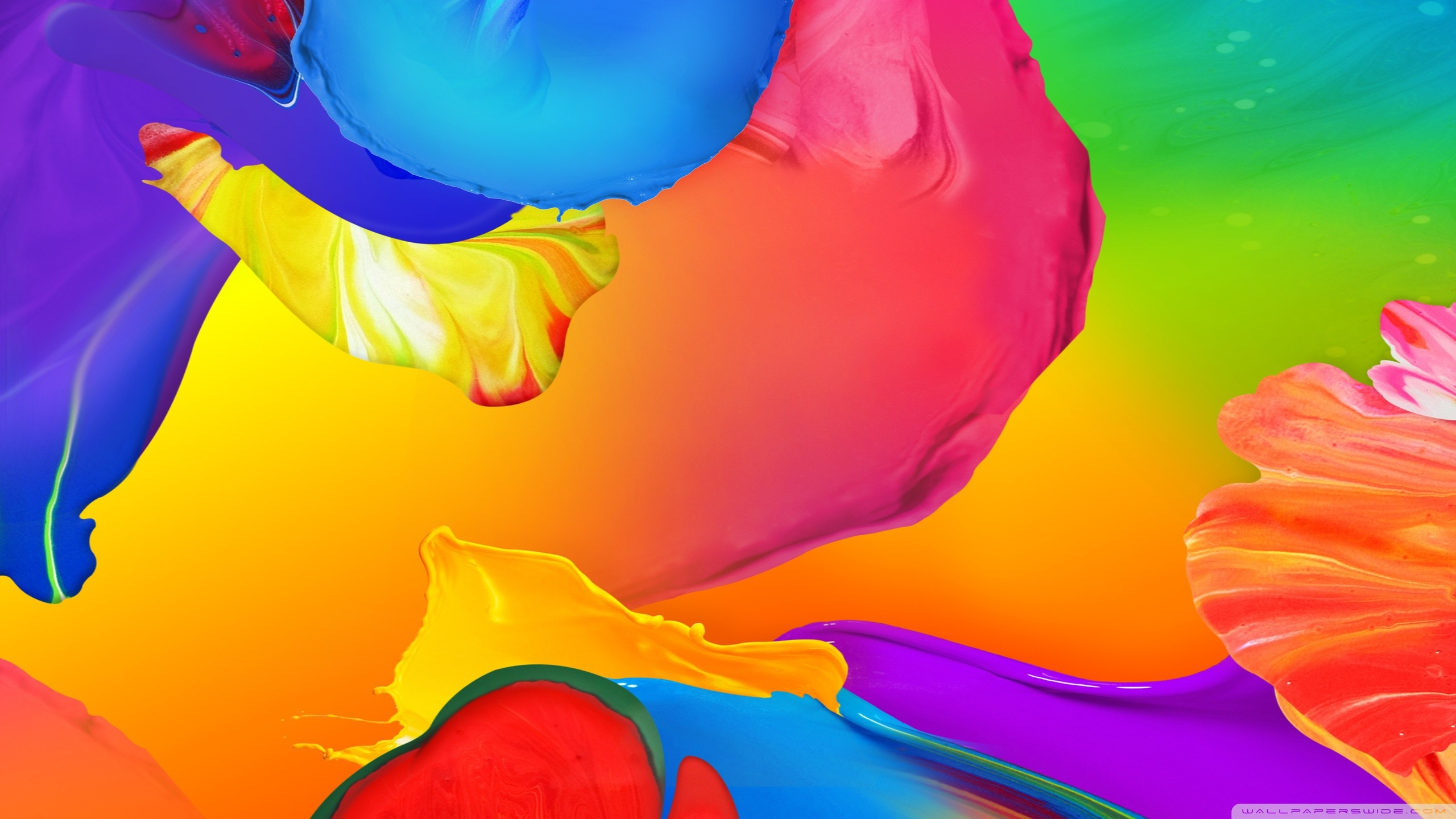 2560x1440, Colorful Abstract Wallpapers Mobile For - Color Paint Background Hd - HD Wallpaper