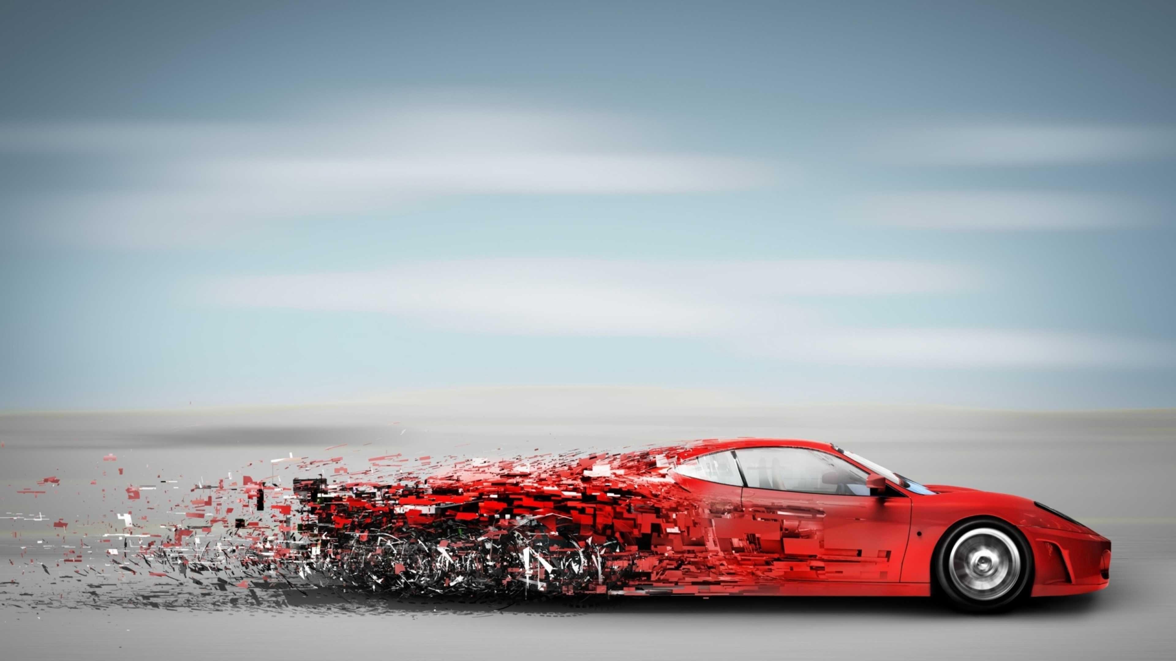 Speed Car Abstract Art K Wallpaper - Car Abstract Wallpaper 4k - HD Wallpaper