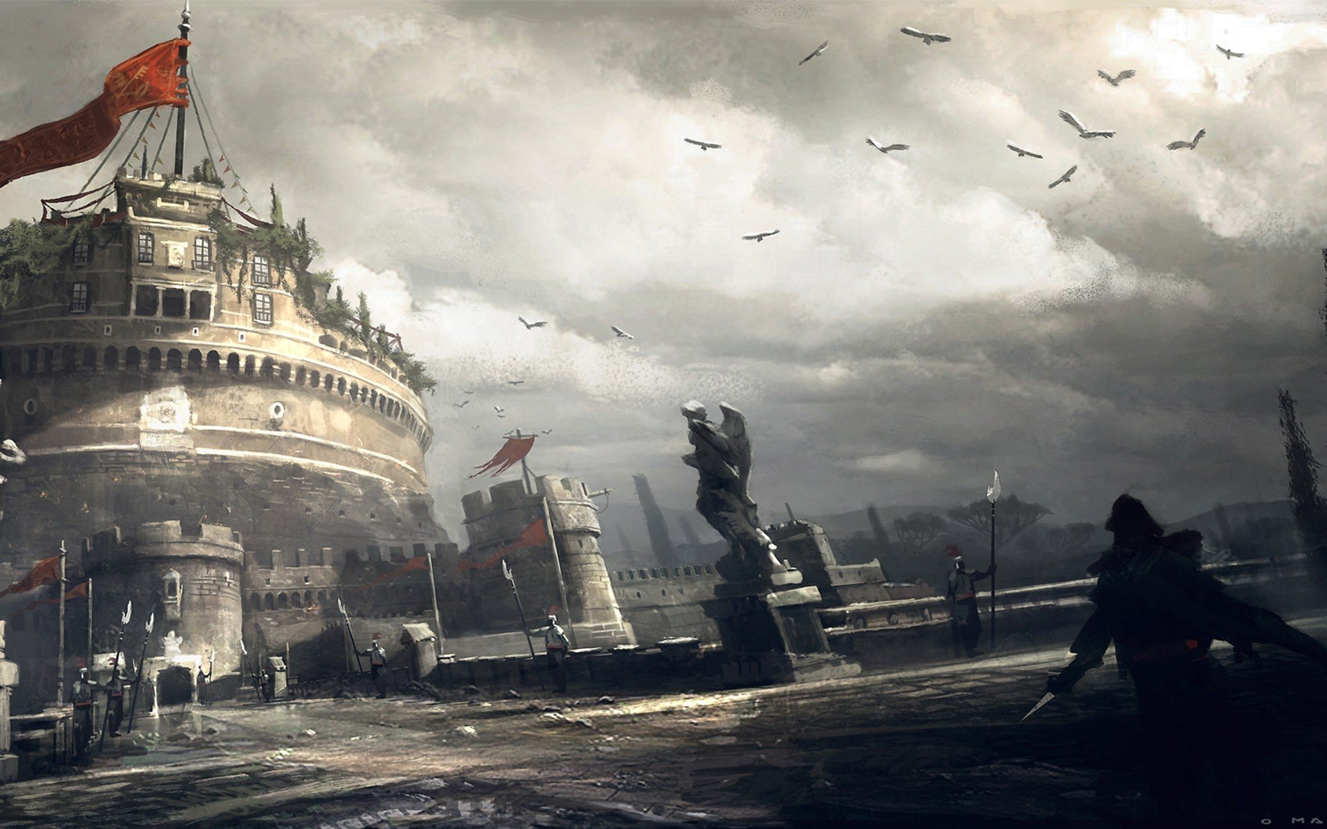 Assassin S Creed Brotherhood Concept Art 1920x1200 Wallpaper Teahub Io