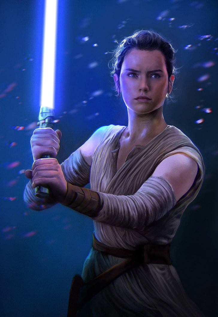 Star Wars Rey Digital Wallpaper Fan Art Star Wars 728x1055 Wallpaper Teahub Io