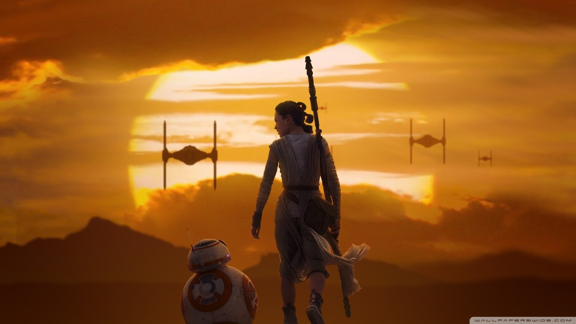 Star Wars Rey Wallpaper Hd 1920x1080 Wallpaper Teahub Io