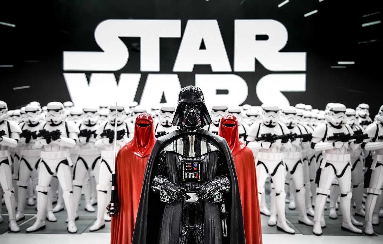Photo Wallpaper Darth Vader Star Wars Stormtrooper Darth Vader And Clone Troopers 1332x850 Wallpaper Teahub Io