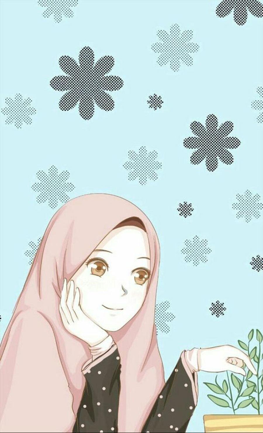 24 244094 1000 gambar kartun wanita muslimah cantik dan lucu