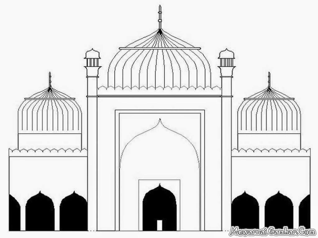 Gambar Mewarnai Kartun Masjid - Kartun Gambar Masjid - HD Wallpaper