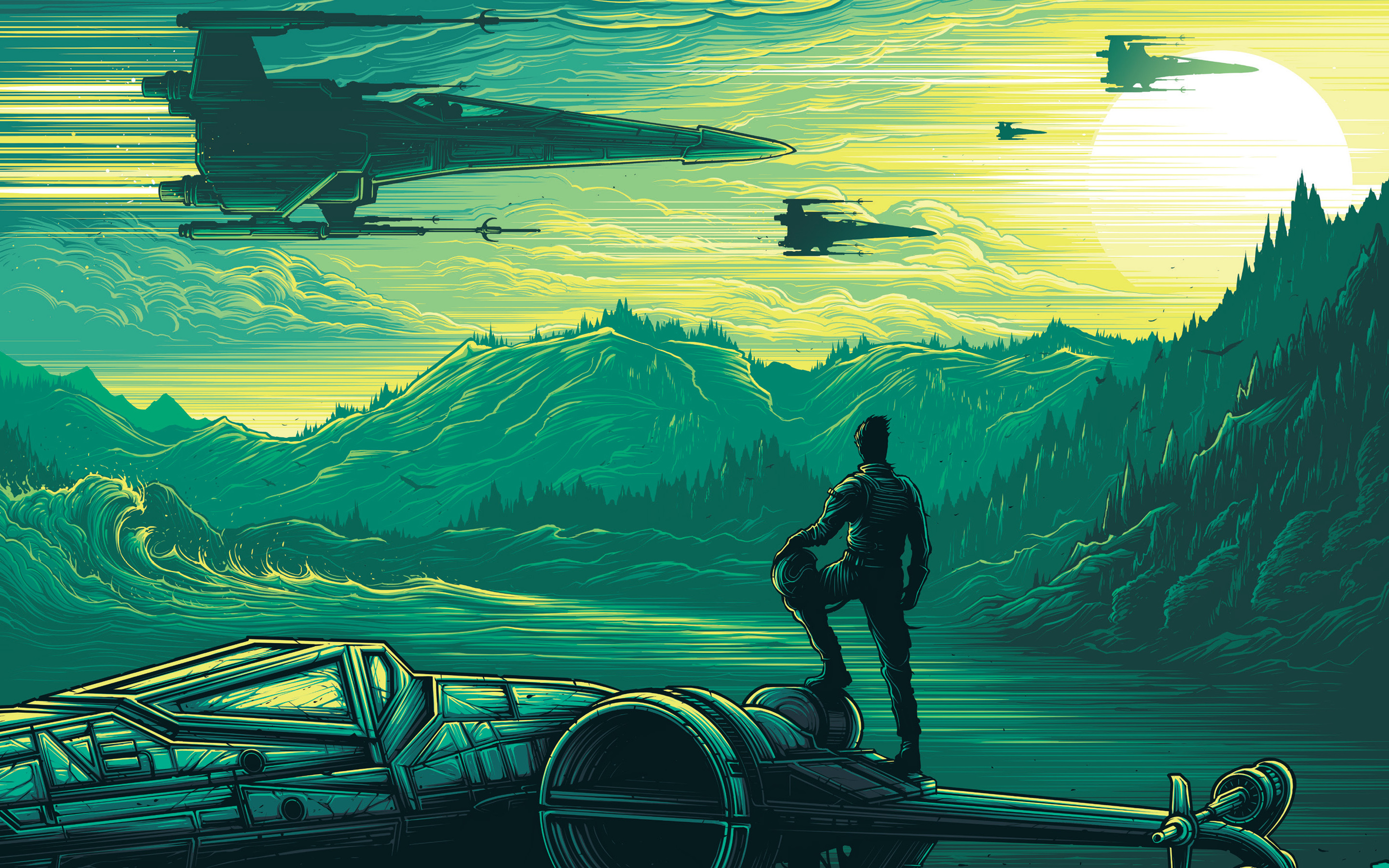 Star Wars The Force Awakens Wallpaper Phone For Free Star Wars Wallpaper Fan Art 2880x1800 Wallpaper Teahub Io