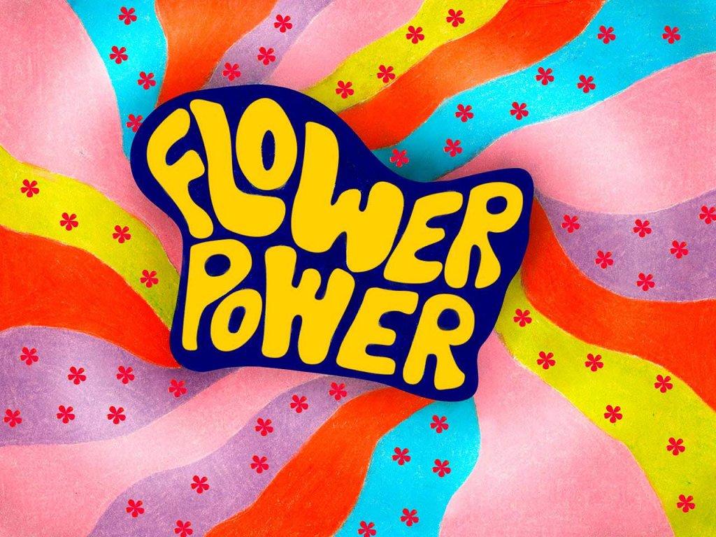 Hippie Wallpaper - 70's Flower Power Background - HD Wallpaper