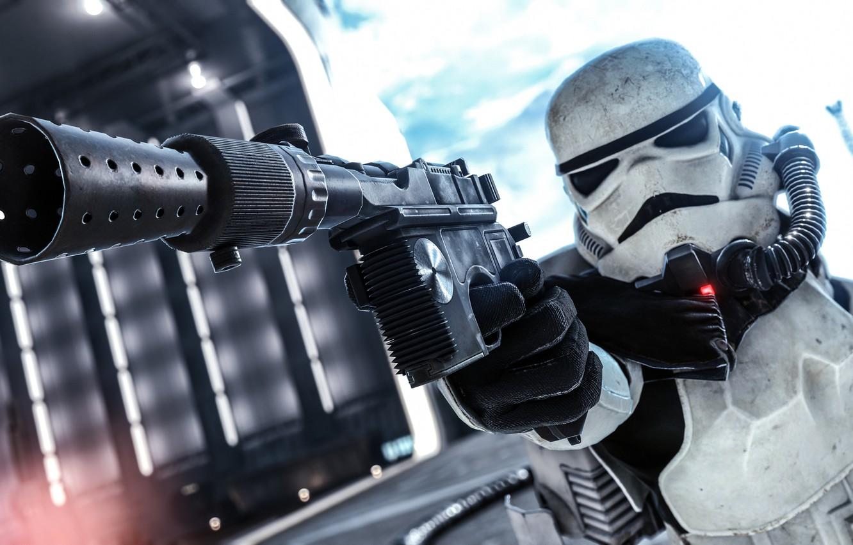 Photo Wallpaper Weapons Star Wars Equipment Battlefront Star Wars Stormtroopers 1332x850 Wallpaper Teahub Io