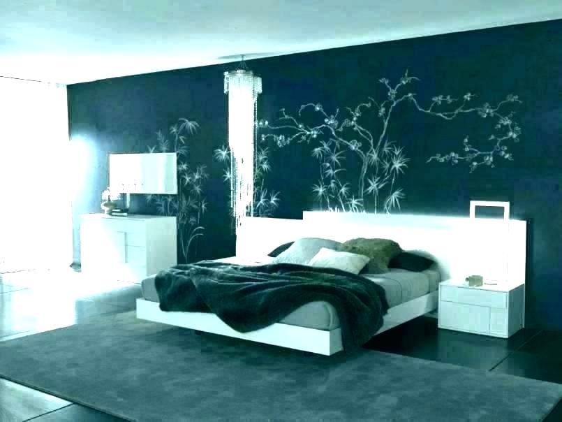 Bedroom Paint And Wallpaper Ideas Bedroom Feature Wall - Modern Accent Wall Bedroom - HD Wallpaper