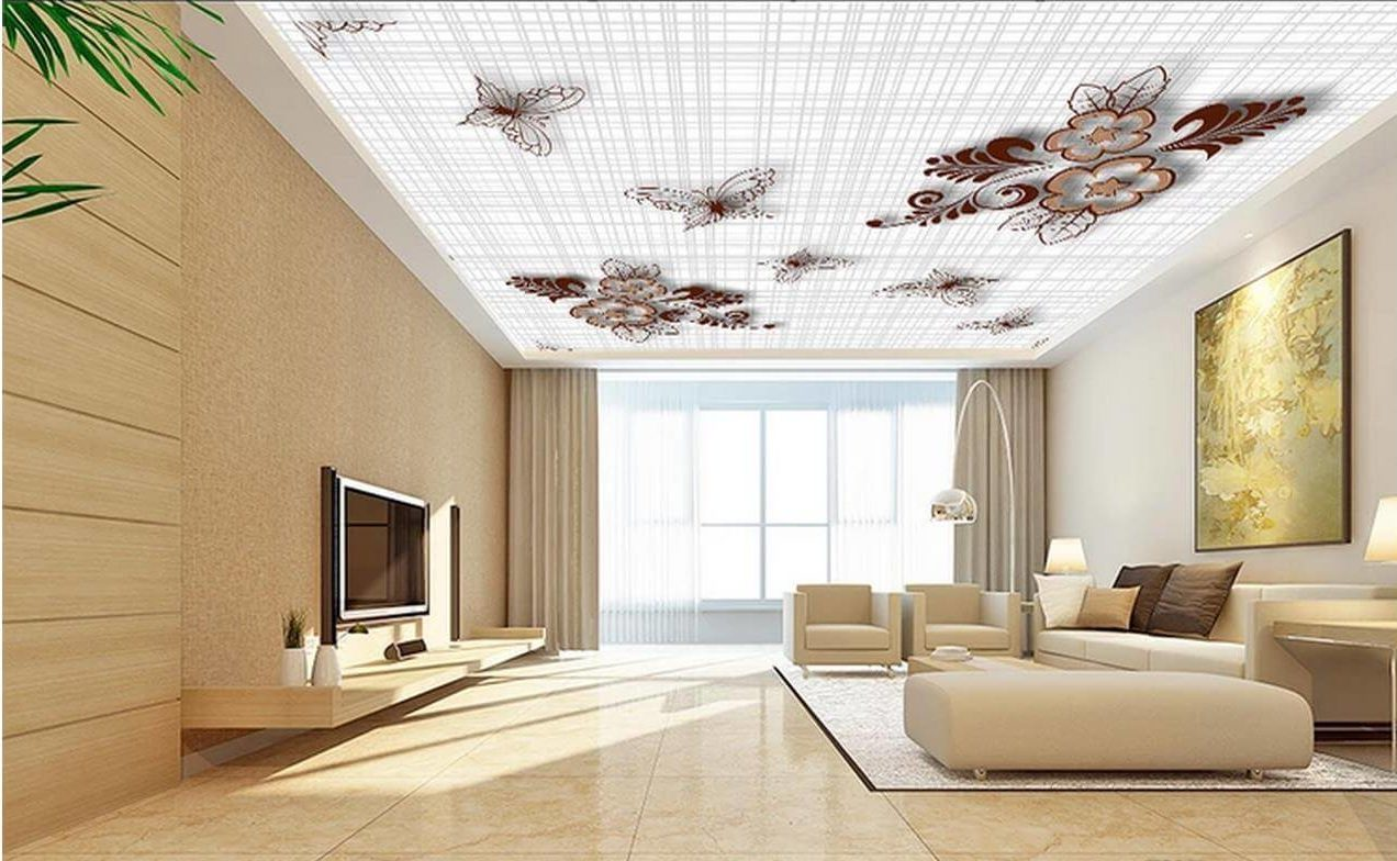 Wallpaper On False Ceiling - False Simple Ceiling Design ...