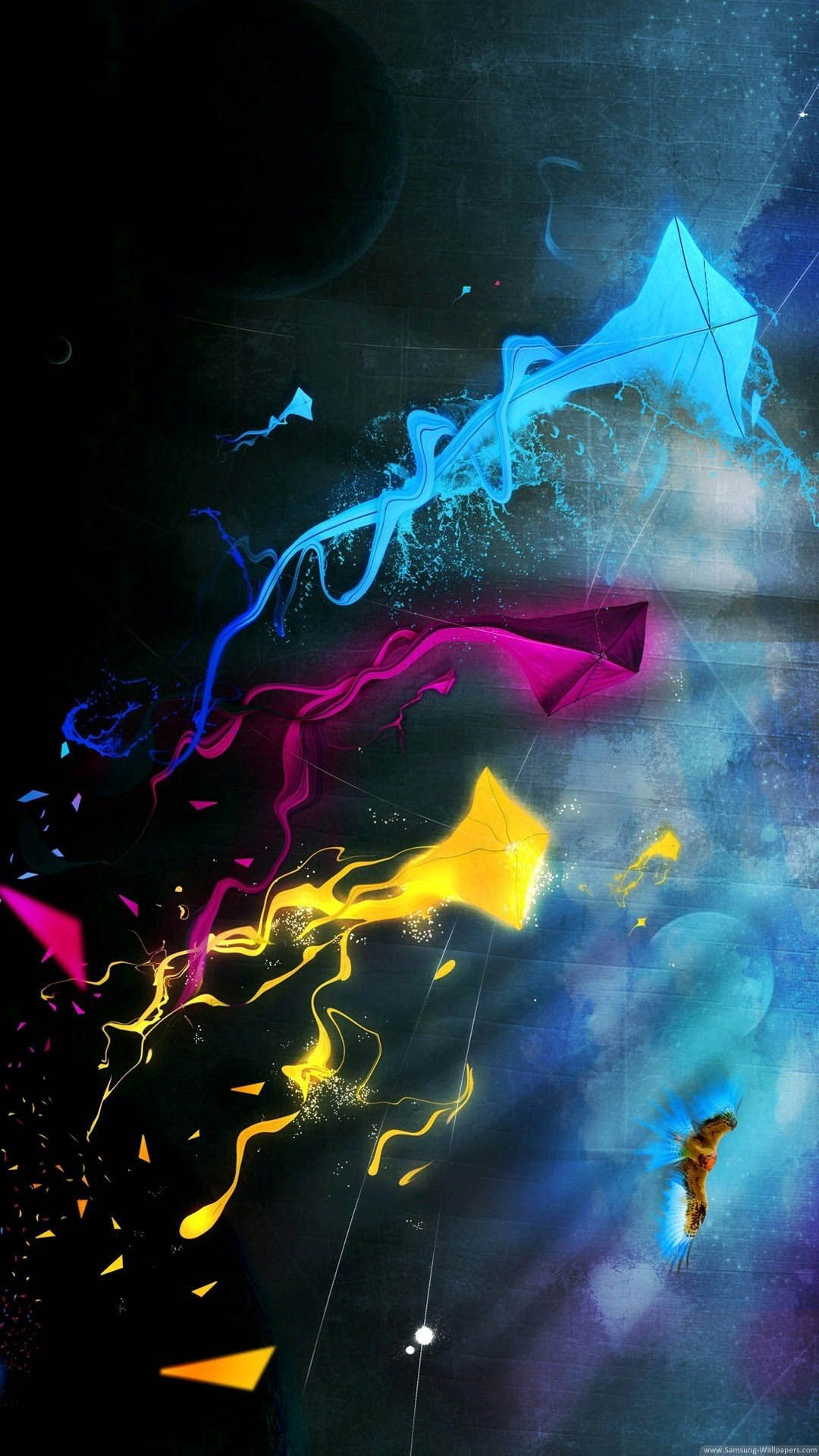Abstract Colored Kites Iphone 6 Plus Hd Wallpaper   - Lock Screen Iphone 11 - HD Wallpaper