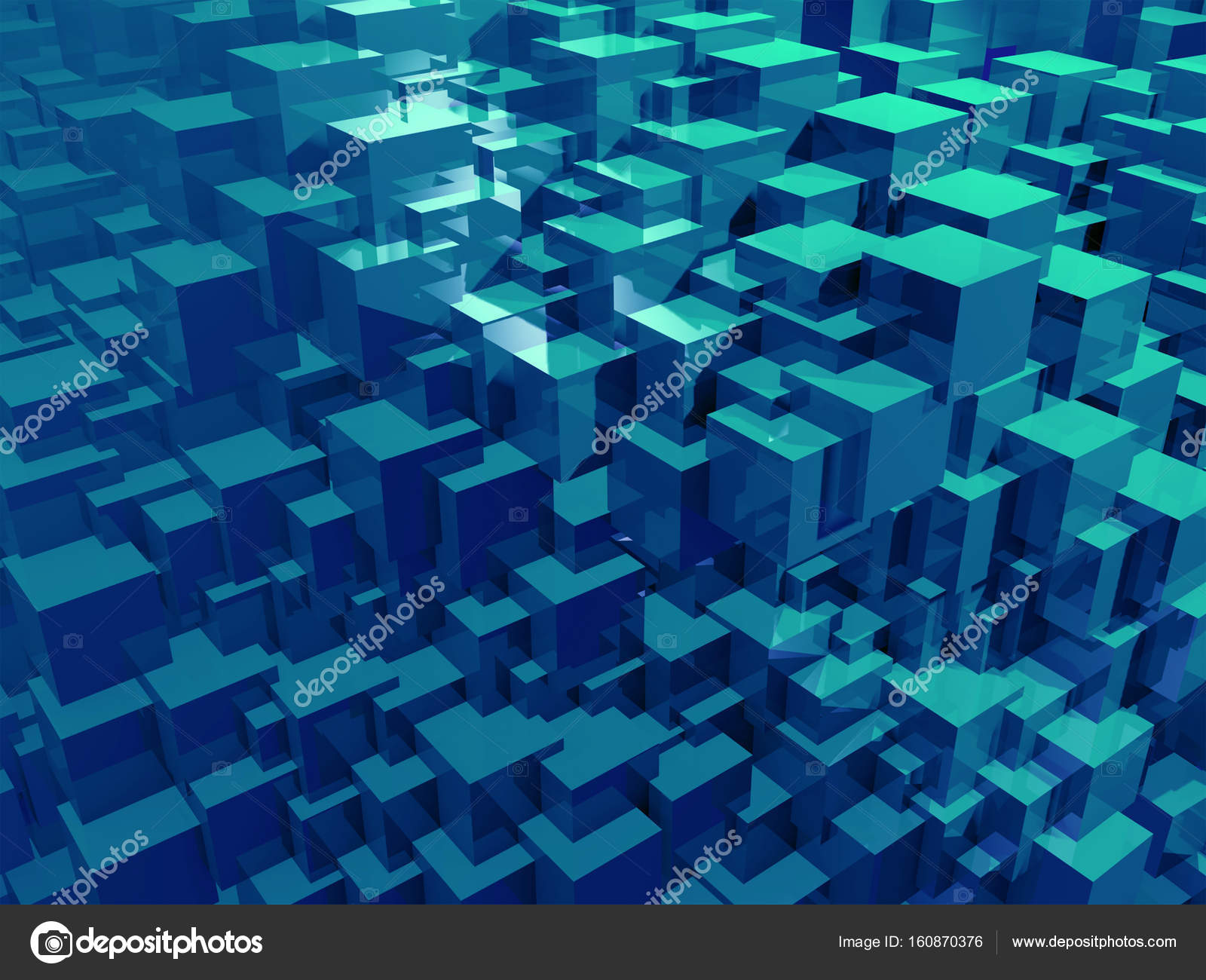 Geometric 3d Abstract Cube Colorful - HD Wallpaper