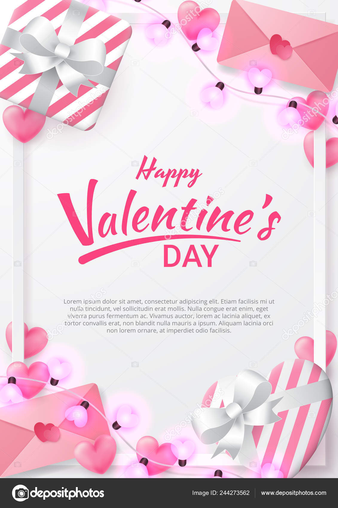 Valentines Day Background With Heart Shaped Love Letter - HD Wallpaper