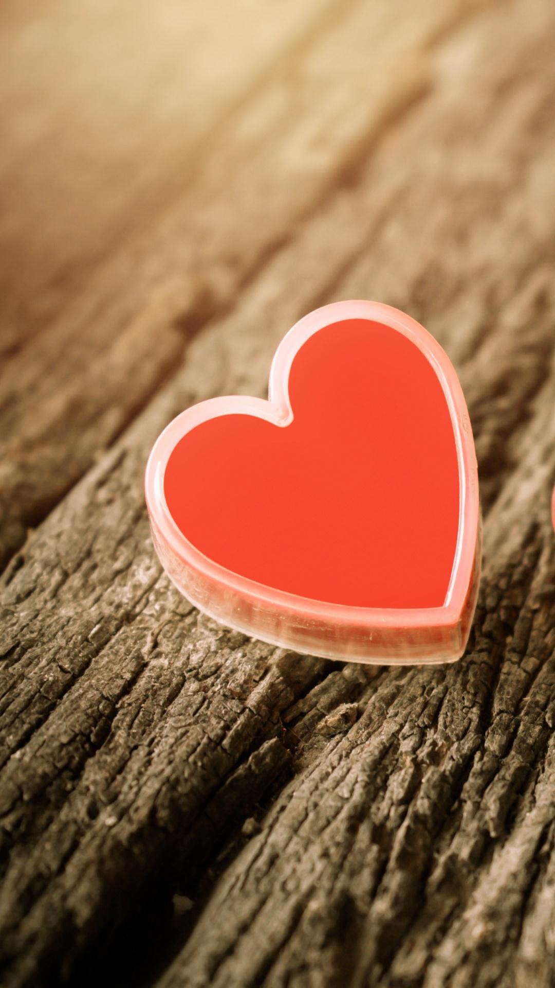 Pink Love Vintage Heart - Mobile Love Wallpaper Hd 1080p - HD Wallpaper