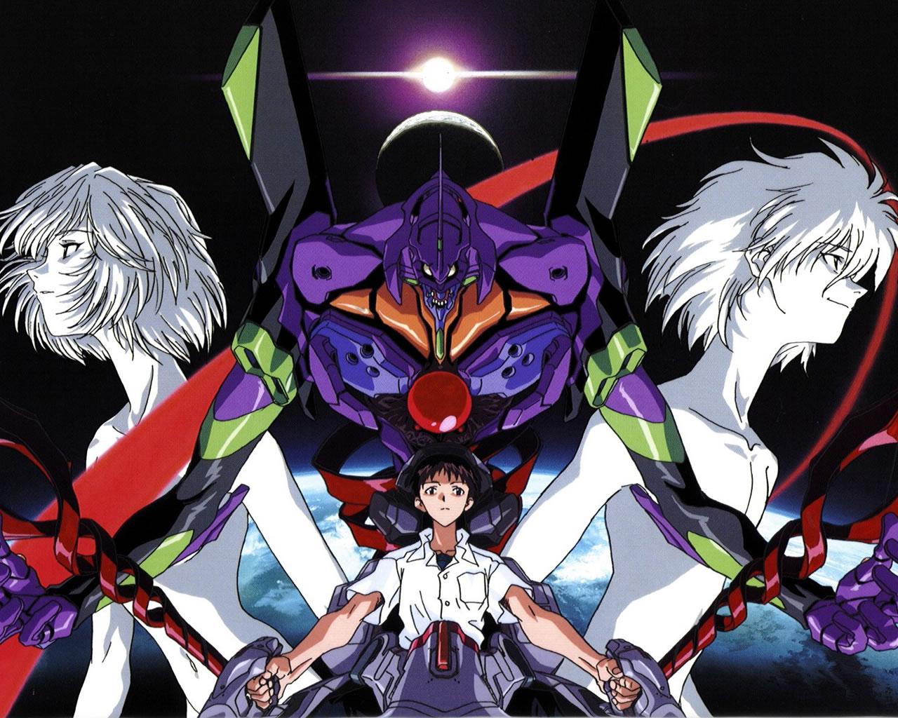 Eva Unit 01 And Pilots Neon Genesis Evangelion Gainax 1280x1024 Wallpaper Teahub Io