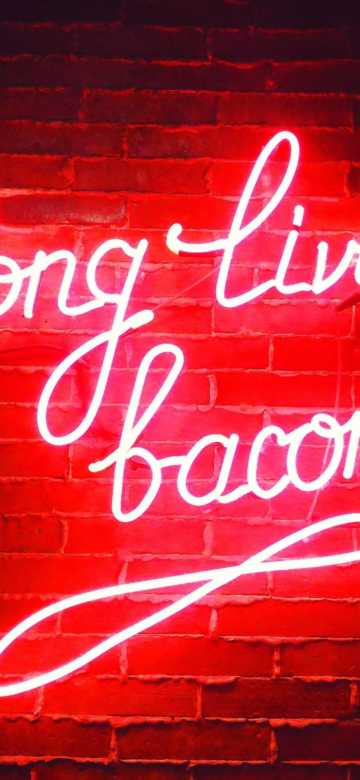 Long Live Bacon Neon Lights S9   Data Src Neon Lights - Neon Live Wallpaper 4k Iphone - HD Wallpaper