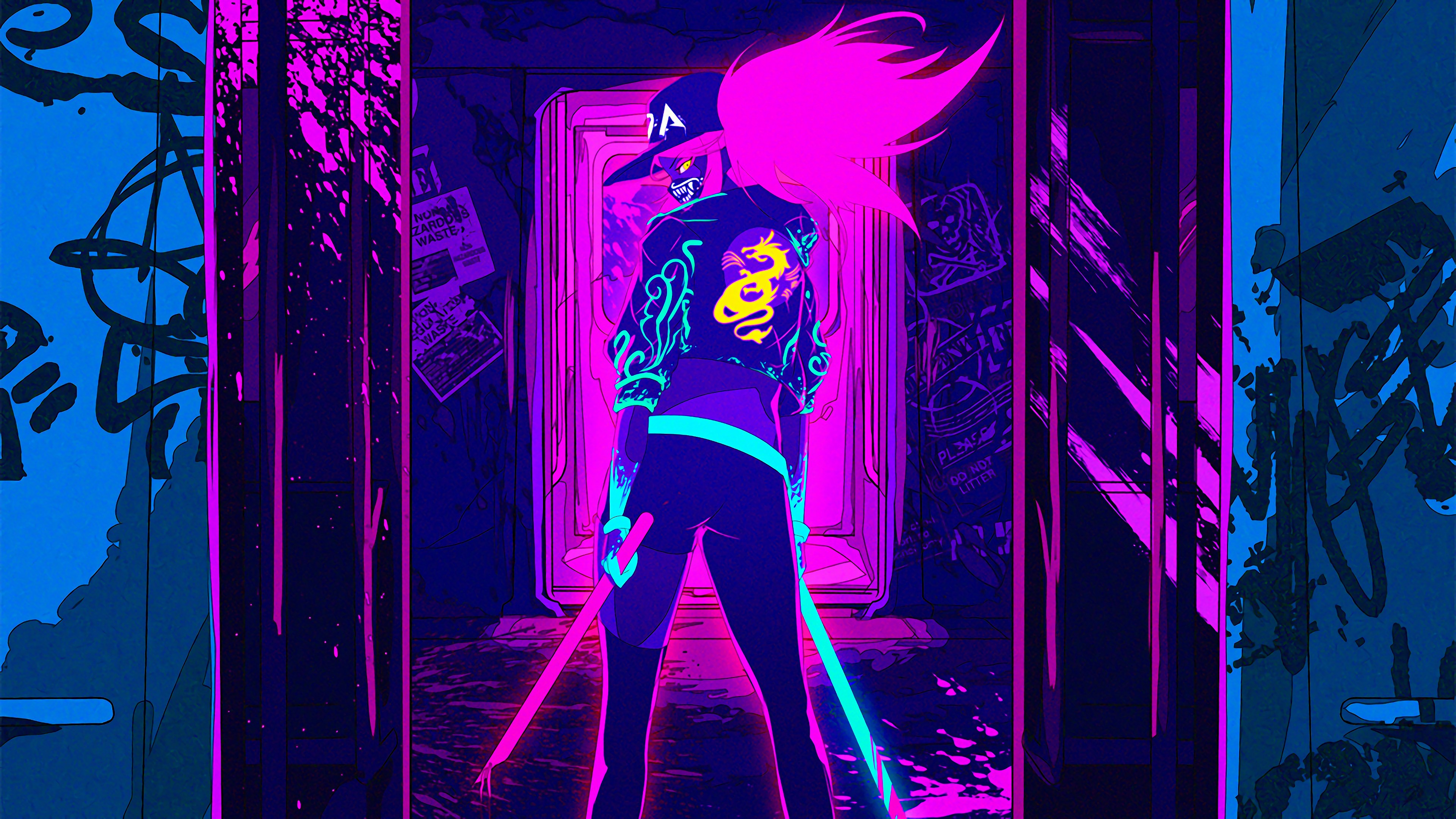 Neon Wallpaper 4k 3840x2160 Wallpaper Teahub Io