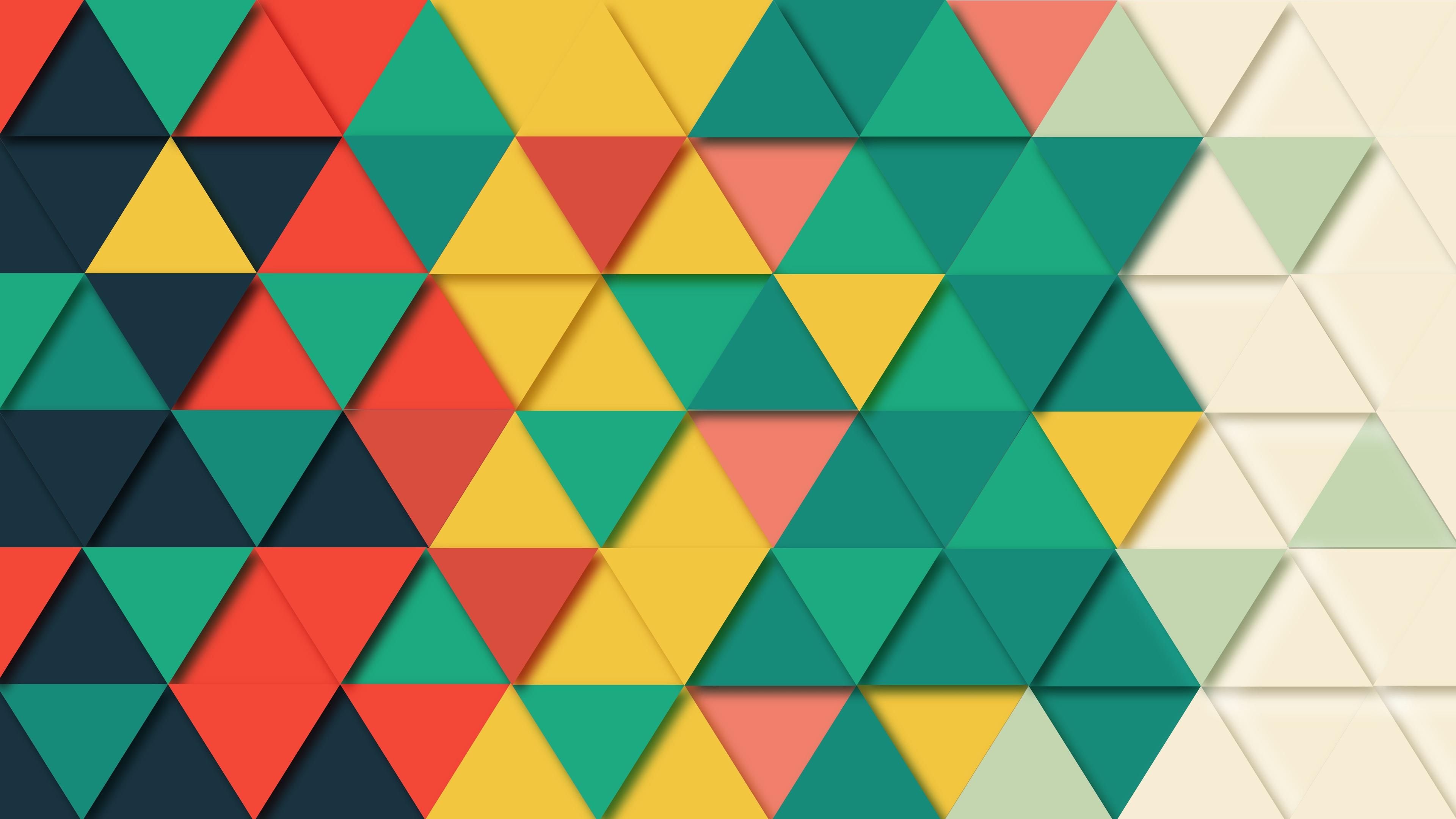 Background Geometric Triangle Pattern 4k - HD Wallpaper