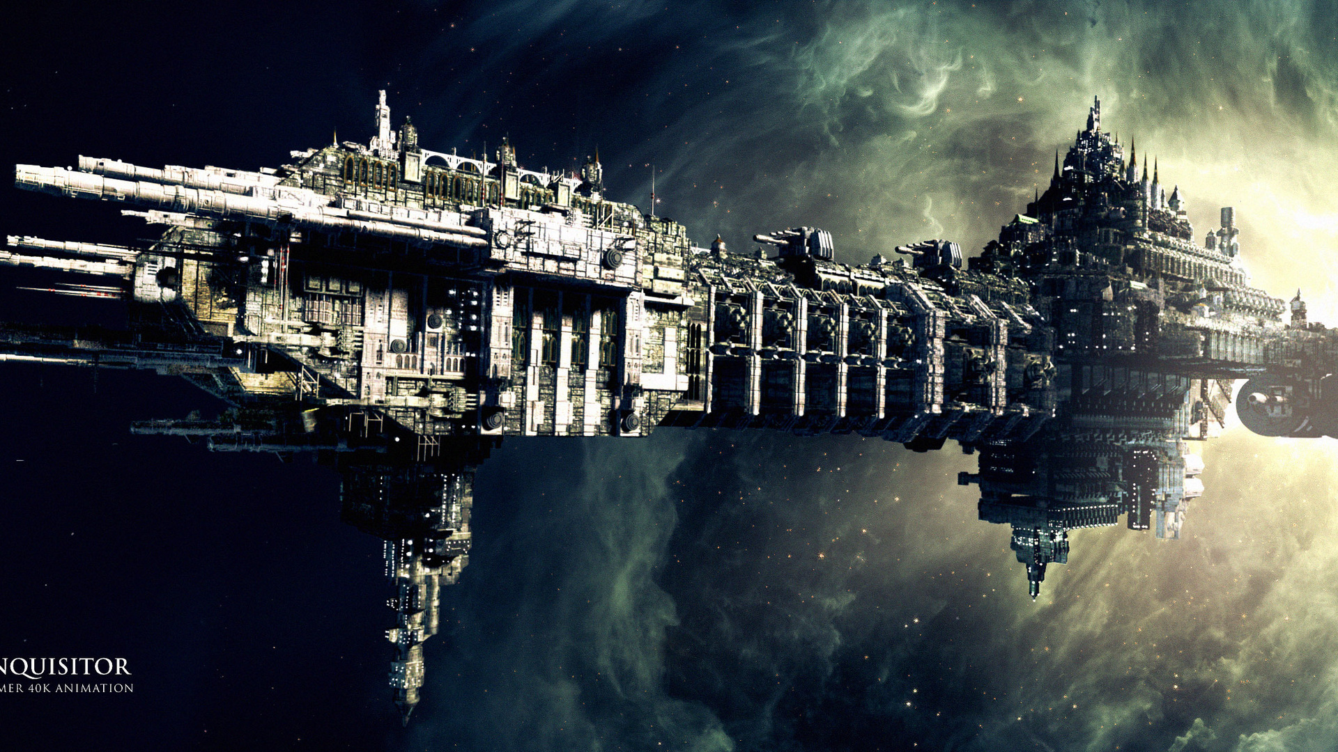 Warhammer 40k Animation Ship Coteaz Nebula The Warhammer 40k Space 1920x1080 Wallpaper Teahub Io
