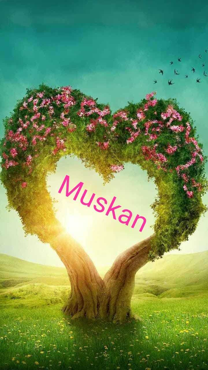 Muskan Name Design Heart Shaped Tree Background 720x1278 Wallpaper Teahub Io