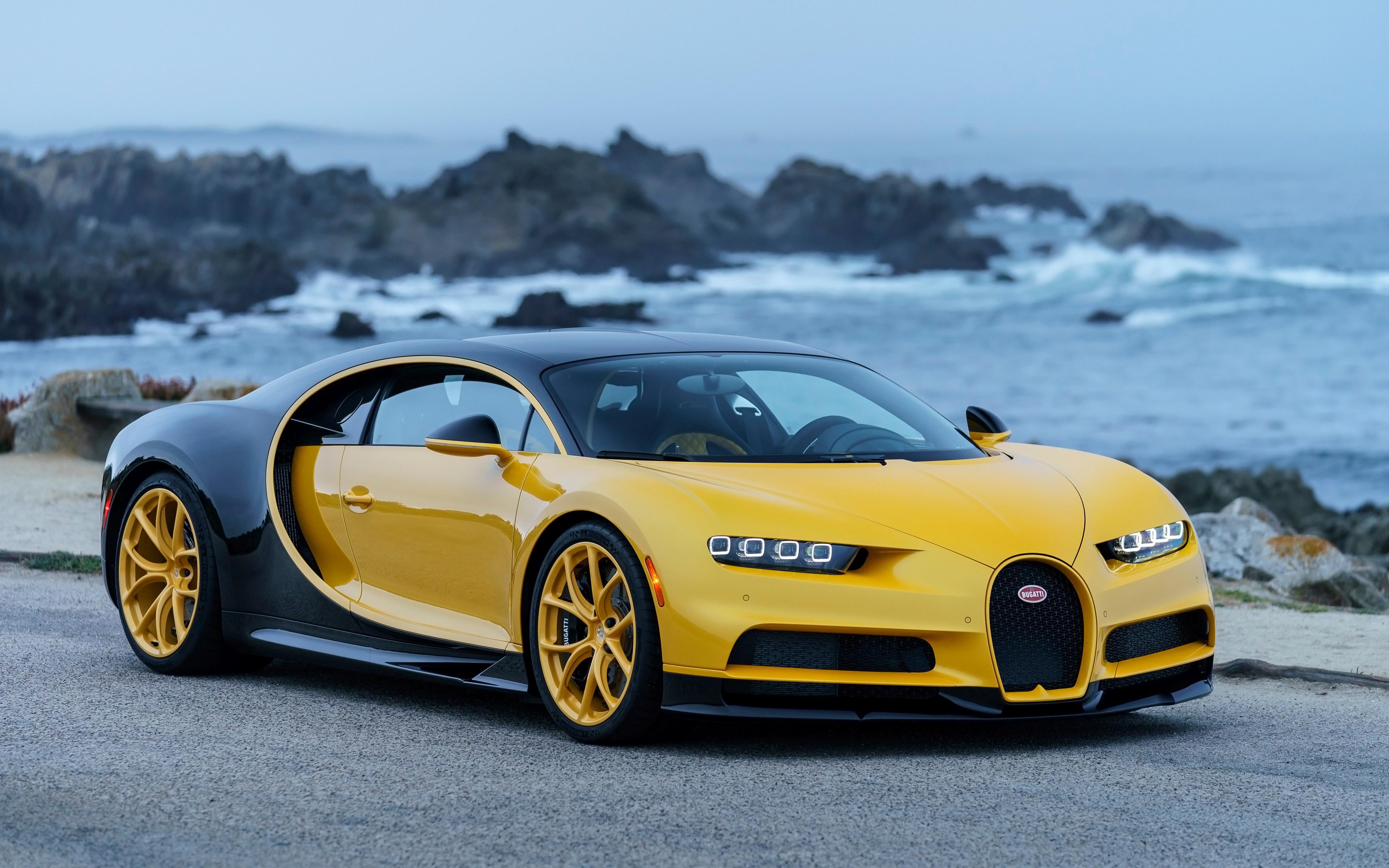 2018 Bugatti Chiron Yellow And Black 4k Wallpapers Bugatti Chiron Hell Bee 3840x2400 Wallpaper Teahub Io