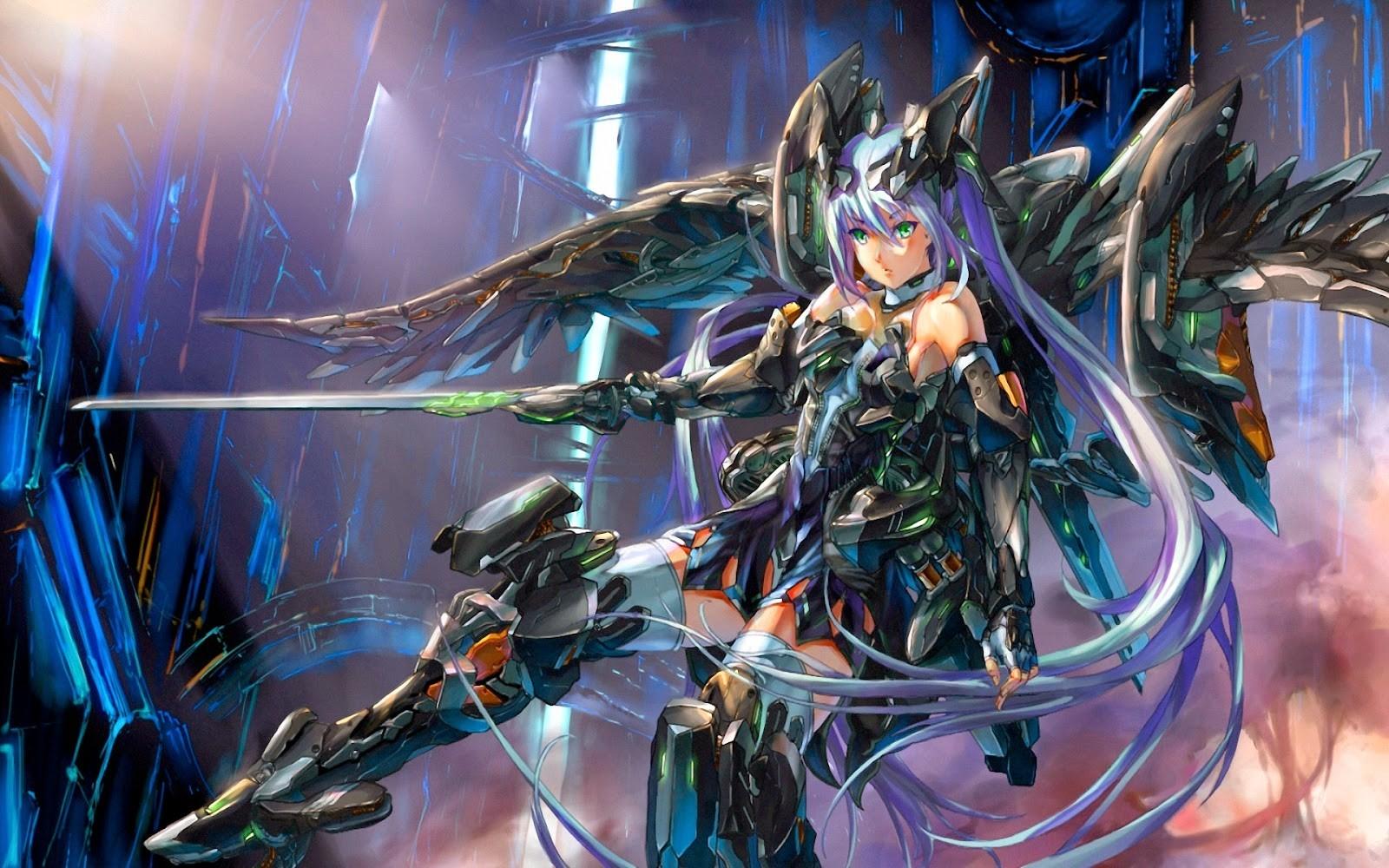 Anime Girls Anime Fantasy Art Mecha Girls Japan Wallpaper - Anime Girl Wallpaper Fantasy - HD Wallpaper