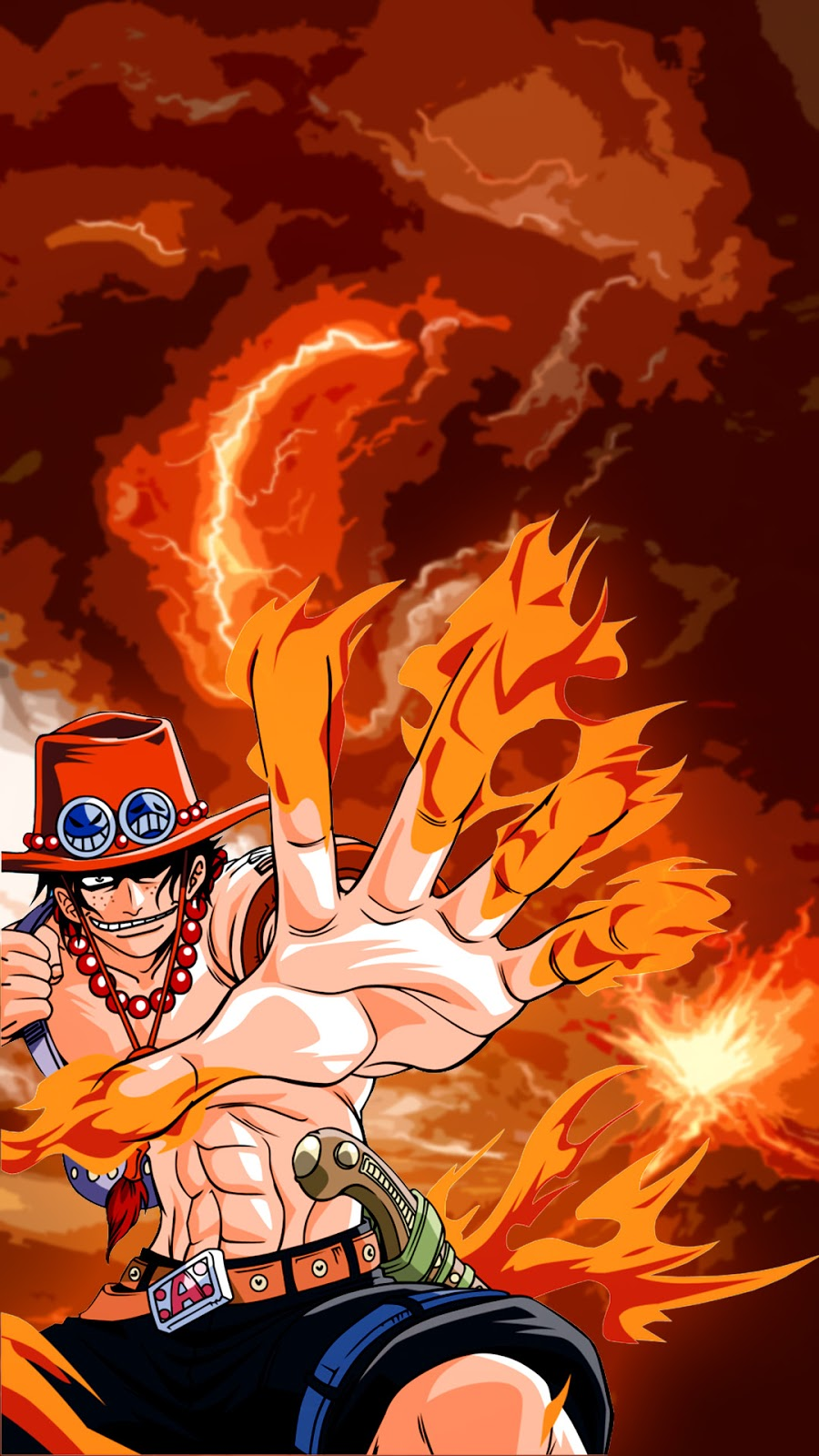 Download Wallpaper One Piece For Android Ace One Piece Hd 900x1600 Wallpaper Teahub Io