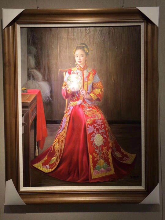 Chinese Art - Chinese Clothing Oil Painting - HD Wallpaper