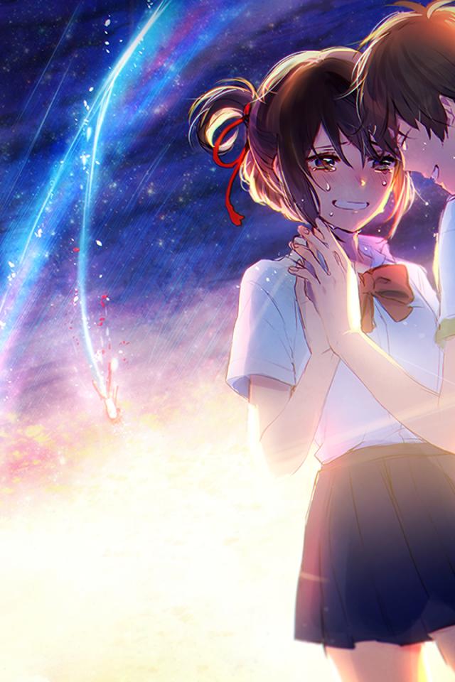 Kimi No Na Wa, Mitsuha X Taki, Couple, Your Name, Romance, - Your Name Anime Wallpaper Couple - HD Wallpaper