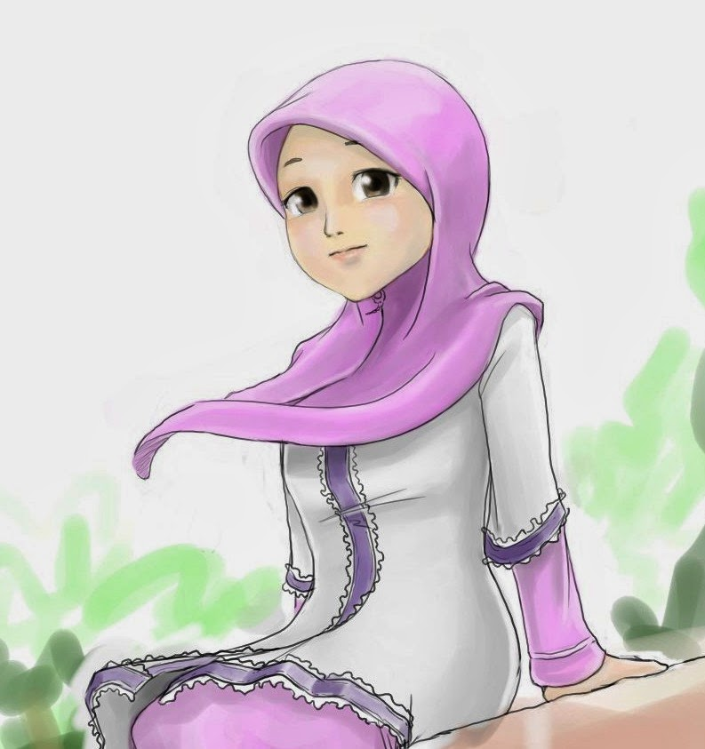 Kartun Muslimah - HD Wallpaper