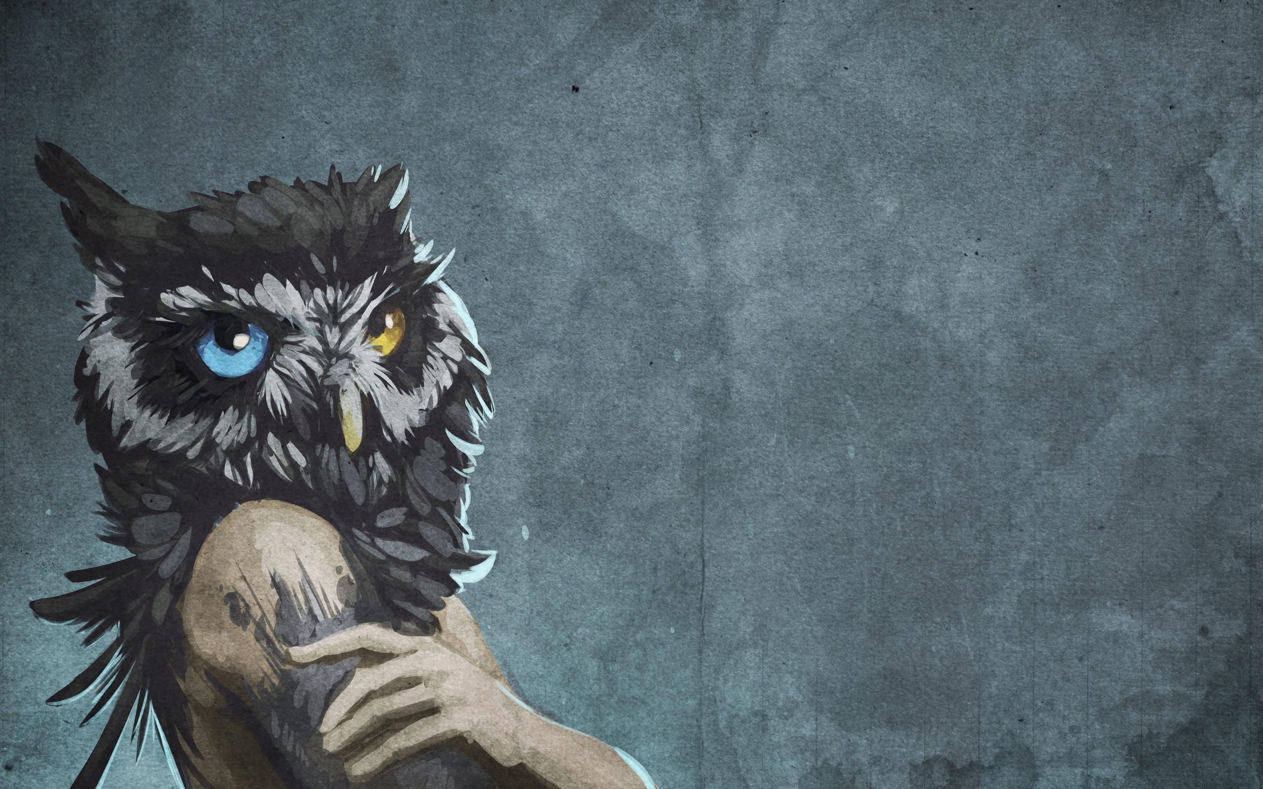 Abstract Blue Eyes Animals Human Textures Fantasy Art - HD Wallpaper